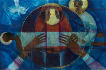 WILLIAM PAJAUD (1925 - 2015) The Raising of Lazarus.