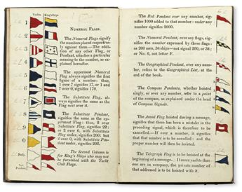 ROYAL YACHT SQUADRON. Signals for the Use of the Members of the Yacht Club.  1817