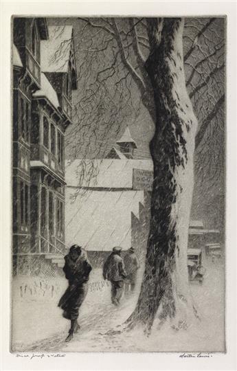 MARTIN LEWIS Winter on White Street.