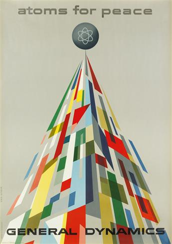 ERIK NITSCHE (1908-1998). GENERAL DYNAMICS / ATOMS FOR PEACE. 1955. 50x35 inches, 127x89 cm. R. Marsens, Lausanne.