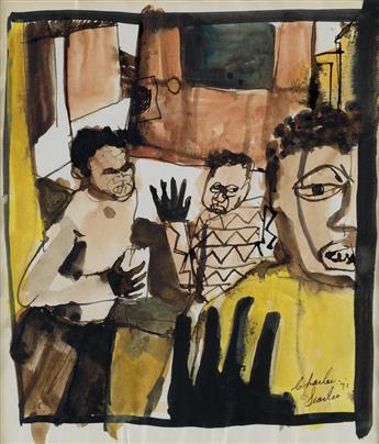 CHARLES SEARLES (1937 - 2004) A pair of drawings.