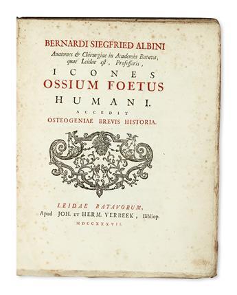 MEDICINE  ALBINUS, BERNHARD SIEGFRIED. Icones ossium foetus humani.  1737