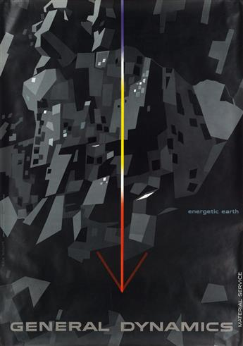 ERIK NITSCHE (1908-1998). GENERAL DYNAMICS / ENERGETIC EARTH / MATERIAL SERVICE. 1960. 50x35 inches, 127x89 cm. R. Marsens, Lausanne.