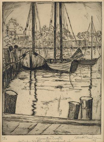 ALLAN FREELON (1895 - 1960) Gloucester Boats.