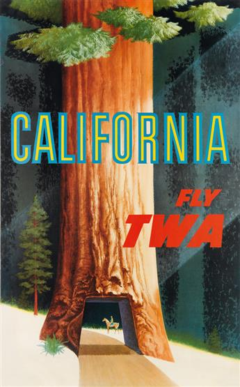 DAVID KLEIN (1918-2005). CALIFORNIA / FLY TWA. Circa 1967. 40x25 inches, 101x63 cm.