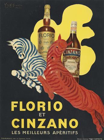LEONETTO CAPPIELLO (1875-1942). FLORIO ET CINZANO. 1930. 14x10 inches, 35x25 cm. Devambez, Paris.