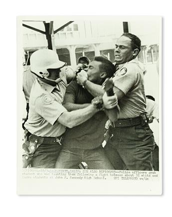 (CIVIL RIGHTS.) PHOTOGRAPHY. Group of 22 press wire photographs.