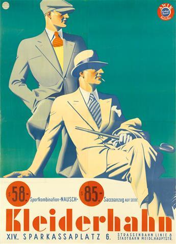 ATELIER HANS NEUMANN. KLEIDERHAHN. Circa 1930s. 98x72 inches, 250x184 cm. Münster & Co., Vienna.
