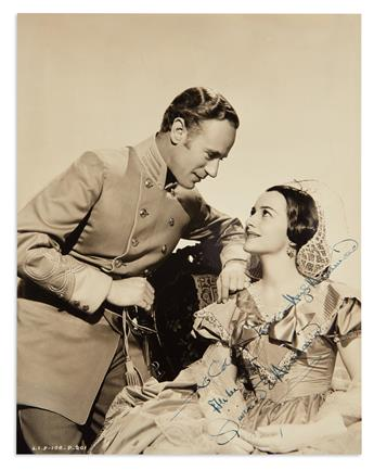 DE HAVILLAND, OLIVIA. Photograph Signed and Inscribed, To Colonel Natalie Hays Hammond / All the best,