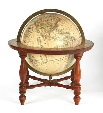 (GLOBE.) Joslin, Gilman. Joslins Terrestrial Globe Containing All the Late Discoveries