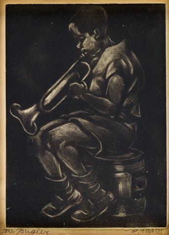 DOX THRASH (1893 - 1965) The Bugler.
