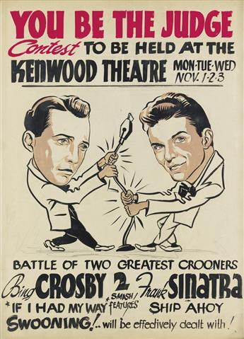 (MUSIC)  AMERICAN ARTIST. Battle of two greatest crooners: Bing Crosby & Frank Sinatra.