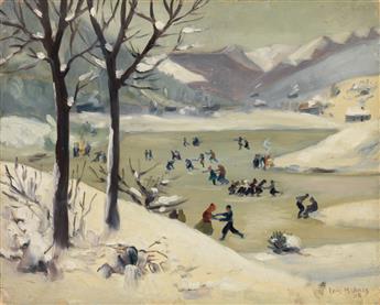 LOÏS MAILOU JONES (1905 - 1998) Untitled (Ice Skating Scene).