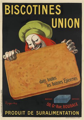 LEONETTO CAPPIELLO (1875-1942). BISCOTINES UNION. Circa 1906. 54x38 inches, 137x97 cm. P. Vercasson & Cie., Paris.