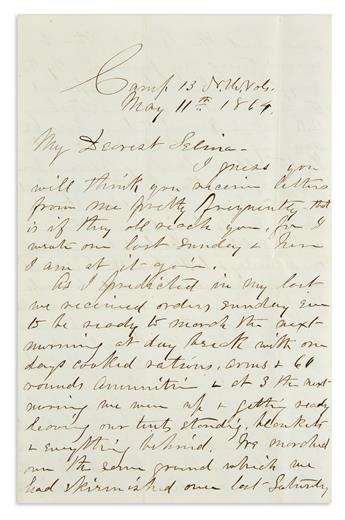 (CIVIL WAR--NEW HAMPSHIRE.) Staniels, Rufus. An officers letter on the Battle of Swift Creek.