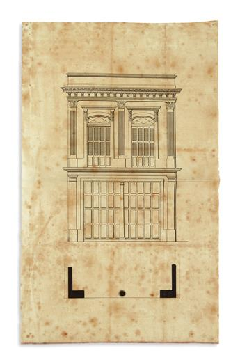 (CUBA.) Group of documents on the reconstruction of the Womens Charity Hospital in Havana.