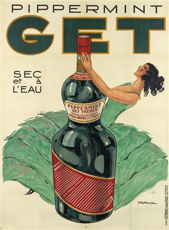 DRANSY (JULES ISNARD, 1883-1945). PIPPERMINT GET. 1934. 61x45 inches, 156x115 cm. Joseph-Charles, Paris.