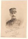 FOCH, FERDINAND. Photograph Signed,