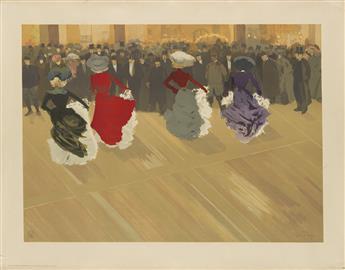 LOUIS ABEL-TRUCHET (1857-1918). LE QUADRILLE. 1900. 25x33 inches, 64x83 cm. Eugène Verneau, Paris.