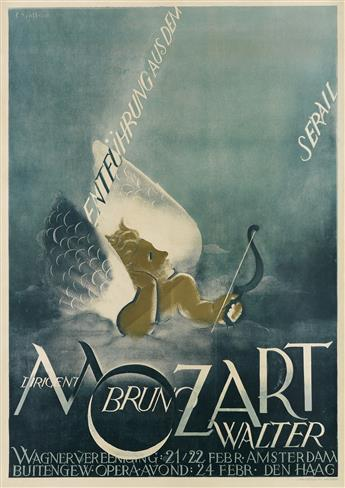 JOHAN (JOOP) SJOLLEMA (1900-1990). MOZART / BRUNO WALTER. Circa 1920. 47x33 inches, 120x85 cm. L. Van Leer & Co., Amsterdam.