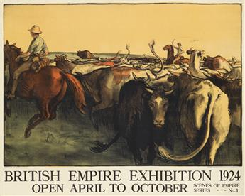 GERALD SPENCER PRYSE (1881-1956). BRITISH EMPIRE EXHIBITION. 1924. 39x50 inches, 99x127 cm. Vincent Brooks Day & Son Ltd., London.
