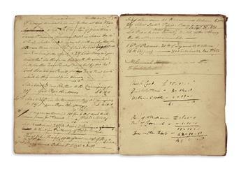 (NEW YORK.) Account book kept by Gilbert van Cortlandt of Cortlandt Manor.