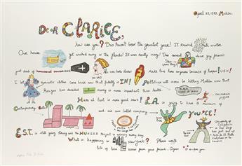 NIKI DE SAINT PHALLE Dear Clarice.
