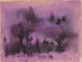 NORMAN LEWIS (1909 - 1979) Untitled (Study in Magenta).