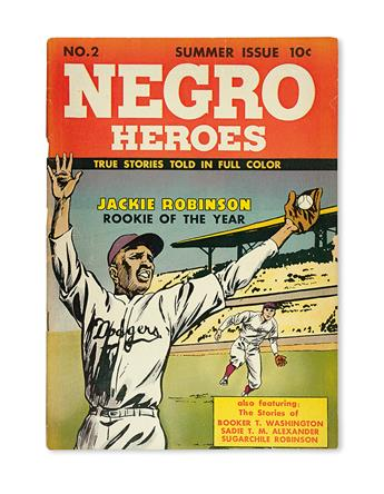 (CIVIL RIGHTS-- ROBINSON, JACKIE.) Negro Heroes Summer Issue No. 2.