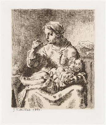 JEAN-FRANÇOIS MILLET La Bouillie.