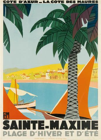 ROGER BRODERS (1883-1953). SAINTE - MAXIME. 1928. 42x30 inches, 106x78 cm. Lucien Serre & Cie, Paris.