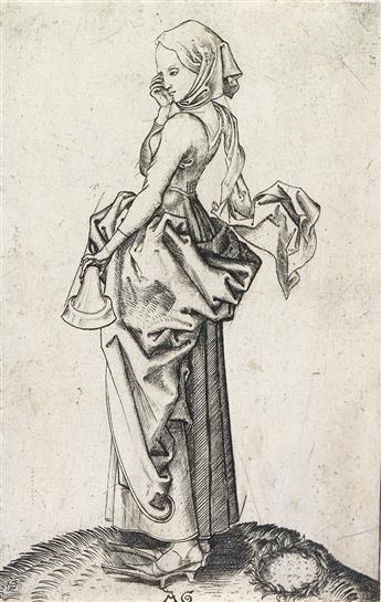 MASTER AG (ALBRECHT GLOCKENDON) (after Schongauer) The Fifth Foolish Virgin