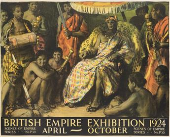 GERALD SPENCER PRYSE (1881-1956). BRITISH EMPIRE EXHIBITION. 1924. 40x50 inches, 101x127 cm. Vincent Brooks Day & Son Ltd., London.