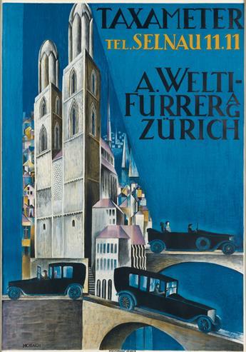 OTTO MORACH (1887-1973). TAXAMETER. 1920. 50x35 inches, 129x90 cm. Wolfsberg, Zurich.