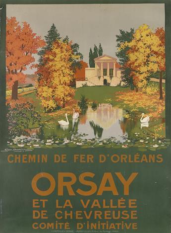 GEORGES DORIVAL (1879-1968). ORSAY. 1913. 41x30 inches, 104x76 cm. Cornille & Serre, Paris.