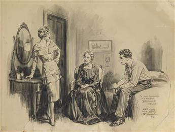 ARTHUR WILLIAM BROWN. (SATURDAY EVENING POST) And I says, His place is at home with me, and she says, You couldnt keep him there b