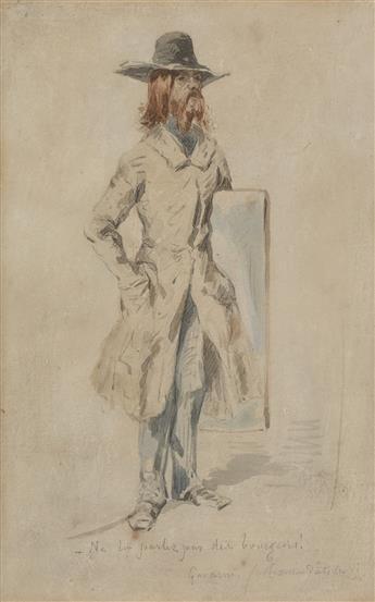 PAUL GAVARNI (Paris 1804-1866 Neuilly-Auteuil-Passy) Portrait de lArtiste par lui-même.