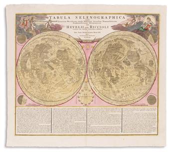 (CELESTIAL.) Doppelmayr, Johann Gabriel; and Homann Heirs. Tabula Selenographica in qua Lunarium Macularum Exacta Descriptio