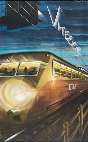 HILDENBRAND (DATES UKNOWN). VITESSE / ETAT. 1934. 38x23 inches, 96x59 cm. Rotophot, Paris.