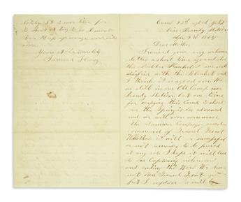 (CIVIL WAR--NEW YORK.) Hoag, Samuel. Letters from a corporal at Fredericksburg and elsewhere.