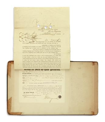 (BUSINESS.) Group of 3 documents relating to the Reading Company, each signed JPMorgan & Co.
