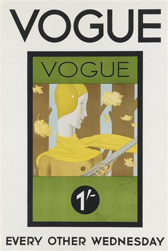 EDOUARDO GARCÍA BENITO (1891-1981). VOGUE / EVERY OTHER WEDNESDAY. 1928. 29x19 inches, 7450 cm.