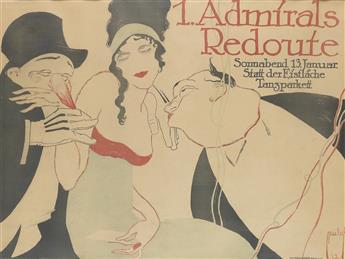 ERNST DEUTSCH (1883-1938). 1. ADMIRALS REDOUTE. 1912. 27x36 inches, 70x93 cm. Hollerbaum & Schmidt, Berlin.