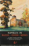 SCHABELSKY (DATES UNKNOWN). RAMBLES IN BUCKS-OXEN-BERKS. 29x25 inches, 75x63 cm. Vincent Brooks Day & Son Ltd., Litho., London.