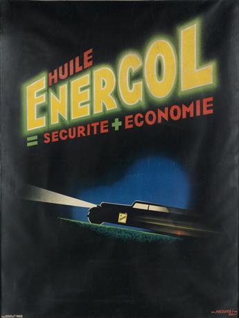ROBERT FALCUCCI (1900-1989). HUILE ENERGOL. 1935. 59x44 inches, 151x113 cm. Bedos & Cie, Paris.