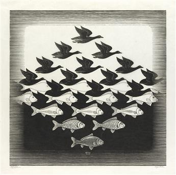 MAURITS C. ESCHER Sky and Water I.