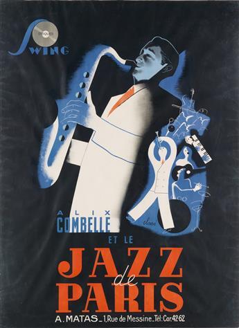 ANTONI CLAVÉ (1913-2005). ALIX COMBELLE ET LE JAZZ DE PARIS. Circa 1940. 61x45 inches, 156x115 cm.