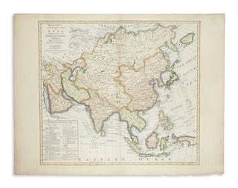 BOWLES, CARINGTON. Bowless New Pocket Map of Asia, Divided into its Empires, Kingdoms, States and Other Subdivisions,