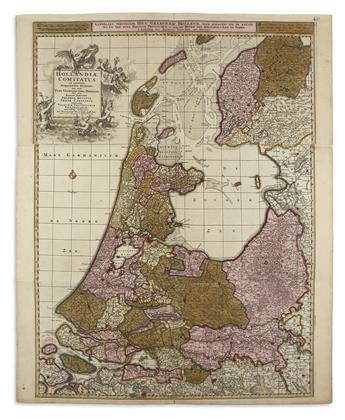 VISSCHER, NICOLAS. Hollandiae Comitatus in Ejusdem Subjacentes Ditiones.