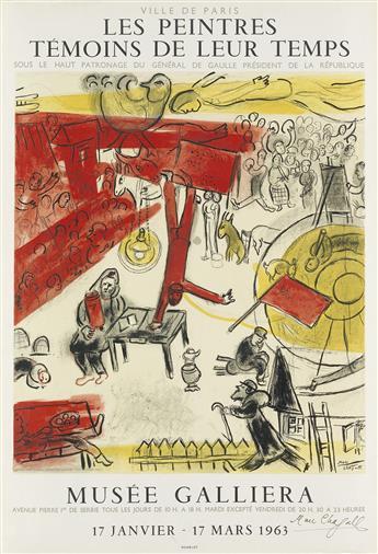 DAPRÈS MARC CHAGALL (1887-1985). LES PEINTRES TÉMOINS DE LEUR TEMPS. 1963. 29x20 inches, 75x50 cm. Mourlot, Paris.